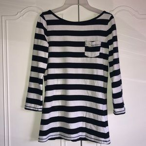 Open back striped top